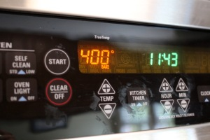Step 4: Heat your oven to 400 degrees, and bake for 14-16 minutes.